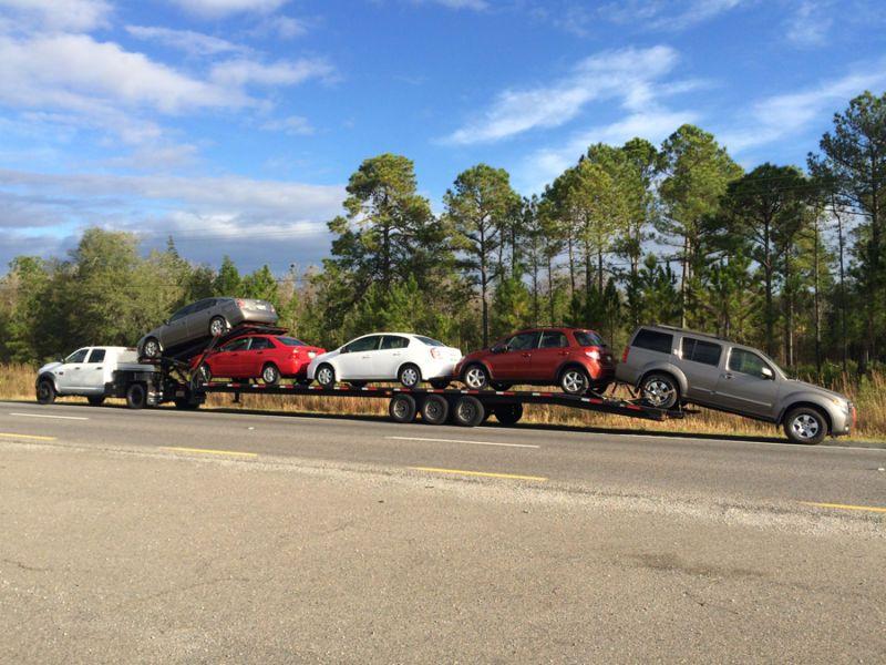 2014 infinity 4 car hauler flatbed trailer 322085329106 for Ebay motors car trailers