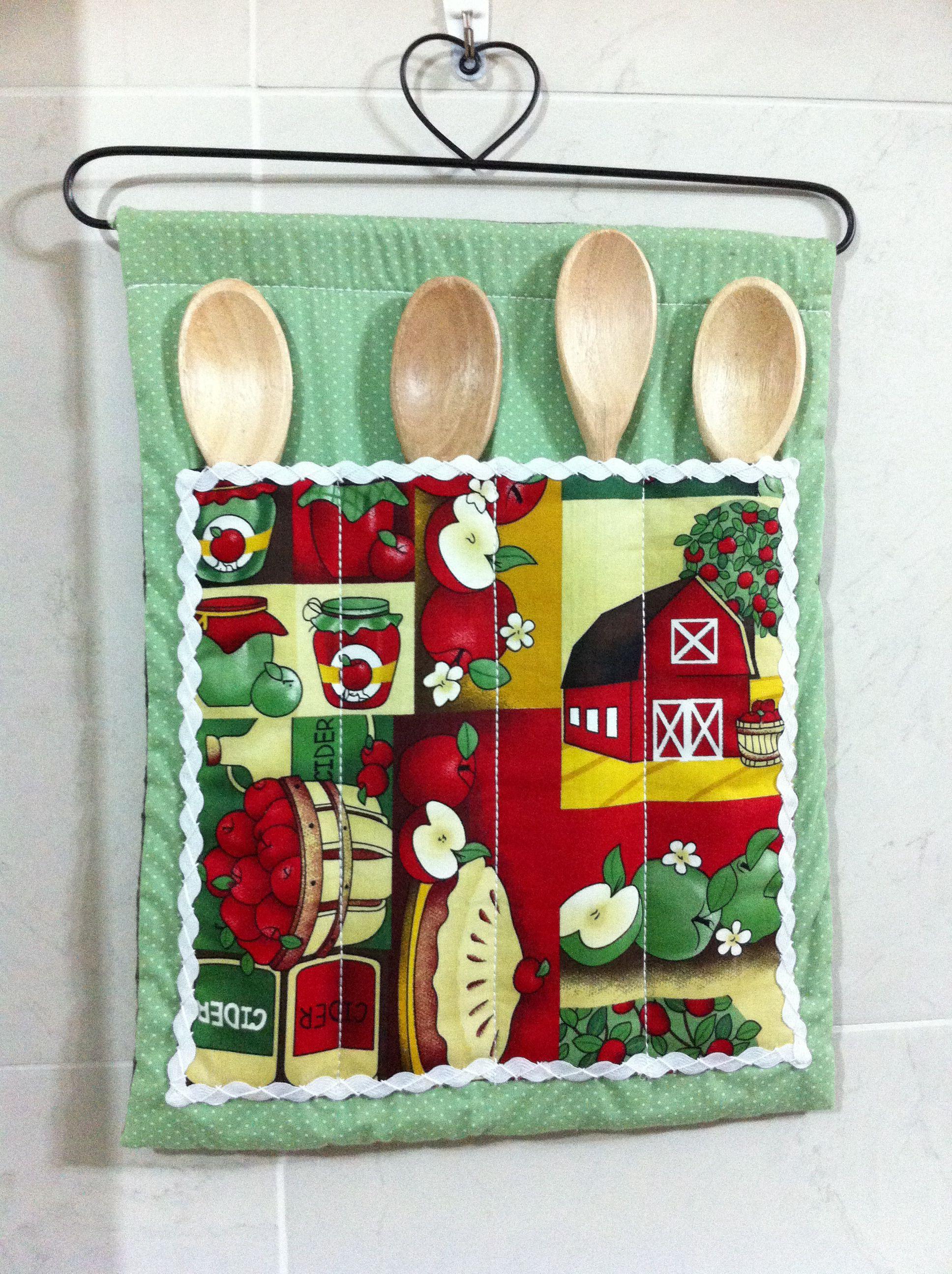 Porta colher de pau cocina pinterest costura for Porta cucharas cocina