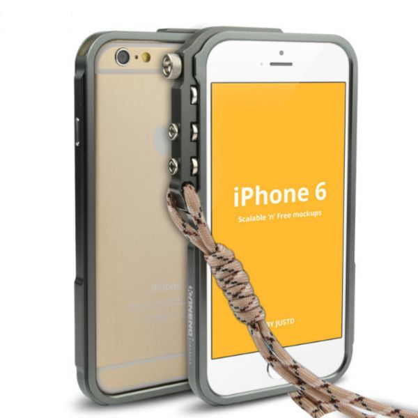 2015 For Apple Iphones Hot Sale New Arrival Luxury Aluminum Metal Button Hard Cleave Frame Bumper Cover For Iphone6/4.7