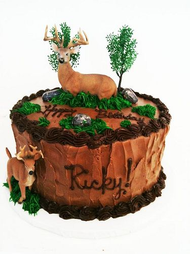 Deer Hunting Cake Elk Cake and Birthdays