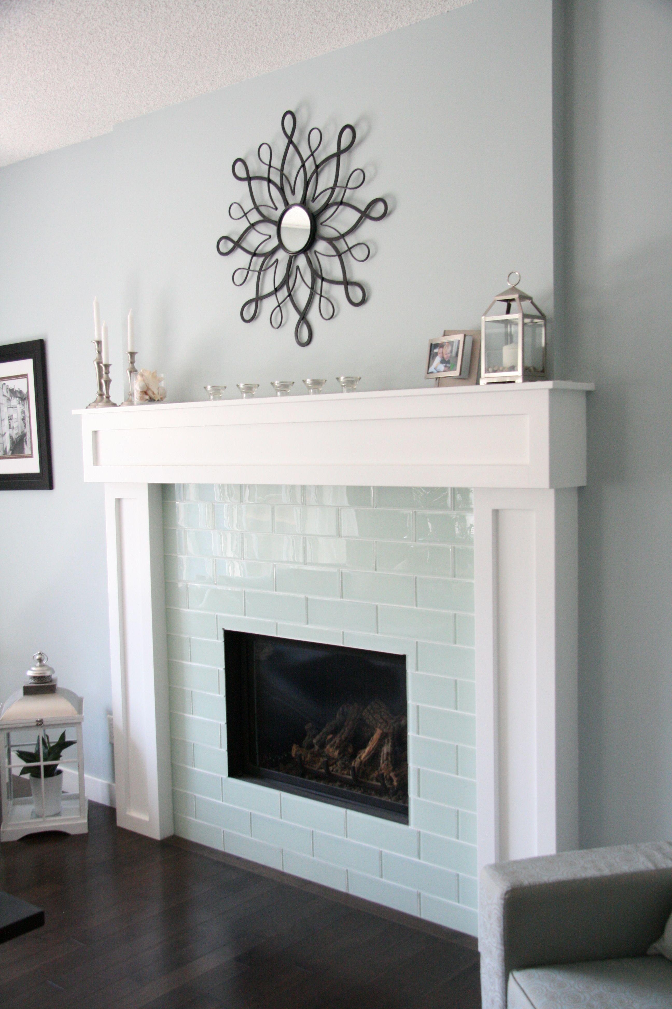 Smoke Glass 4 Quot X 12 Quot Subway Tile Glass Tile Fireplace