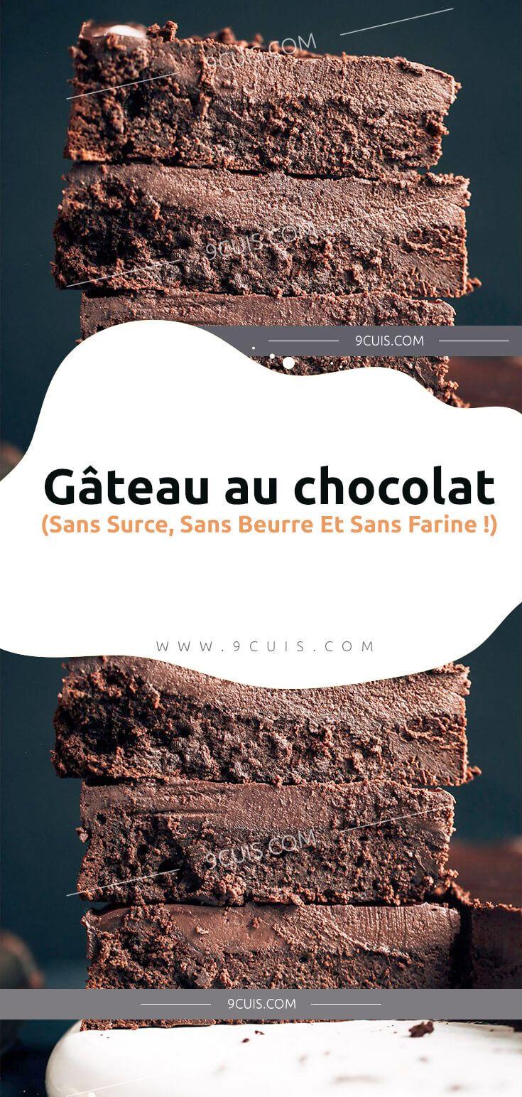 Gâteau au chocolat (Sans Surce, Sans Beurre Et Sans Farine ...