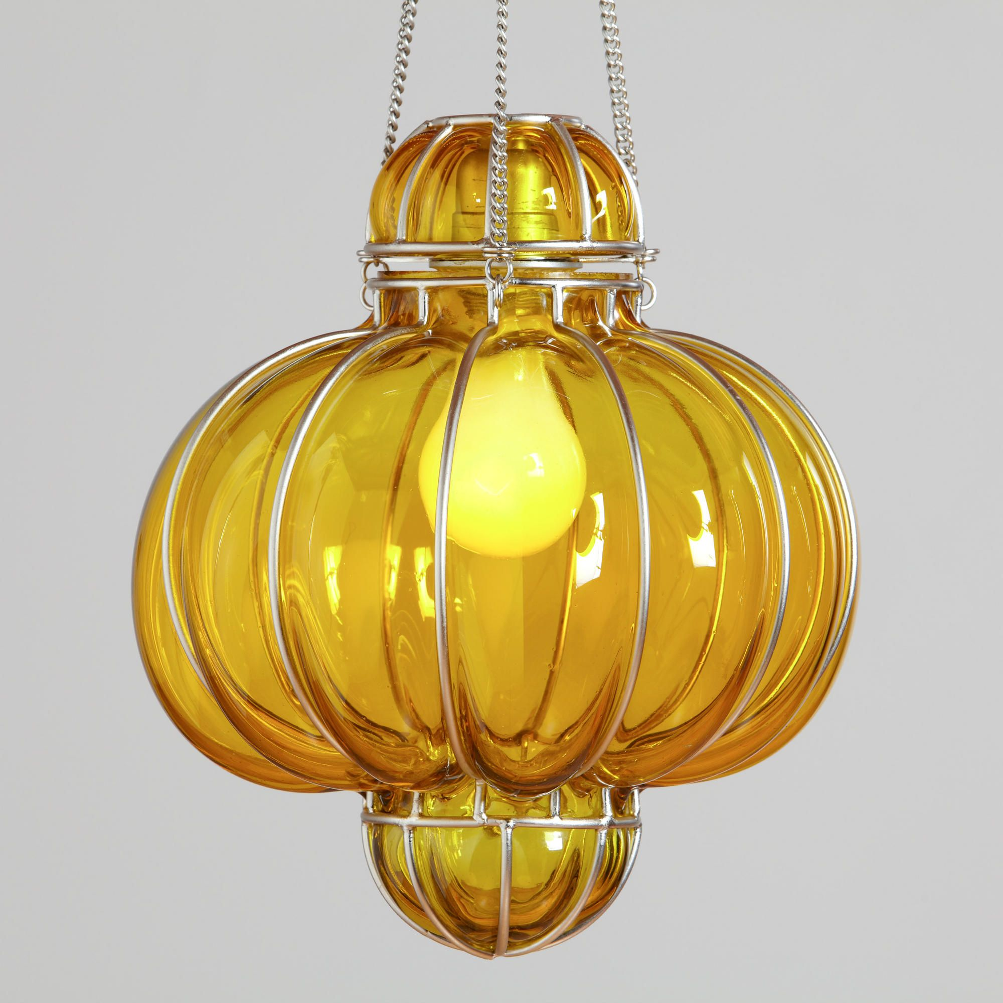 Yellow glass venetian pendant world market the humble abode
