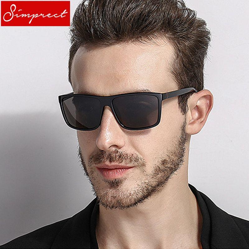 a020c004da3 SIMPRECT 2018 Square Polarized Sunglasses Men UV400 High Quality Driving  Mirror Sun Glasses Vintage Lunette De Soleil Homme Review