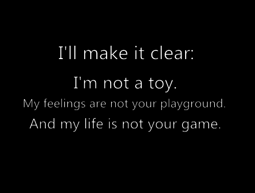 I'm not a toy  | via Tumblr on We Heart It