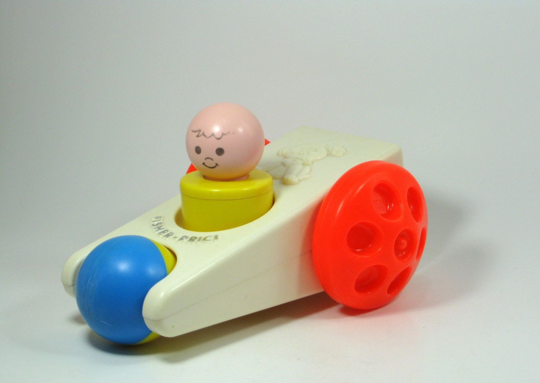 Child toys car  Fisher Price Vintage Click N Clatter Toy Car  Vintage