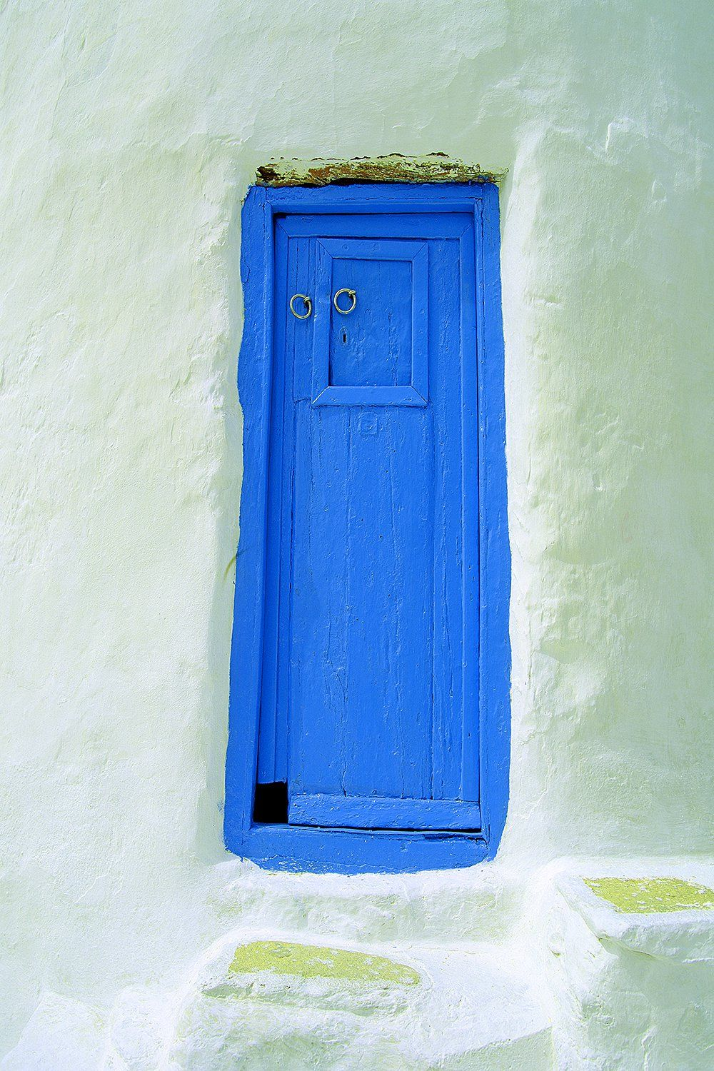 Greece - Blue door on windmill, Mykonos Island - Jim Zuckerman Photography