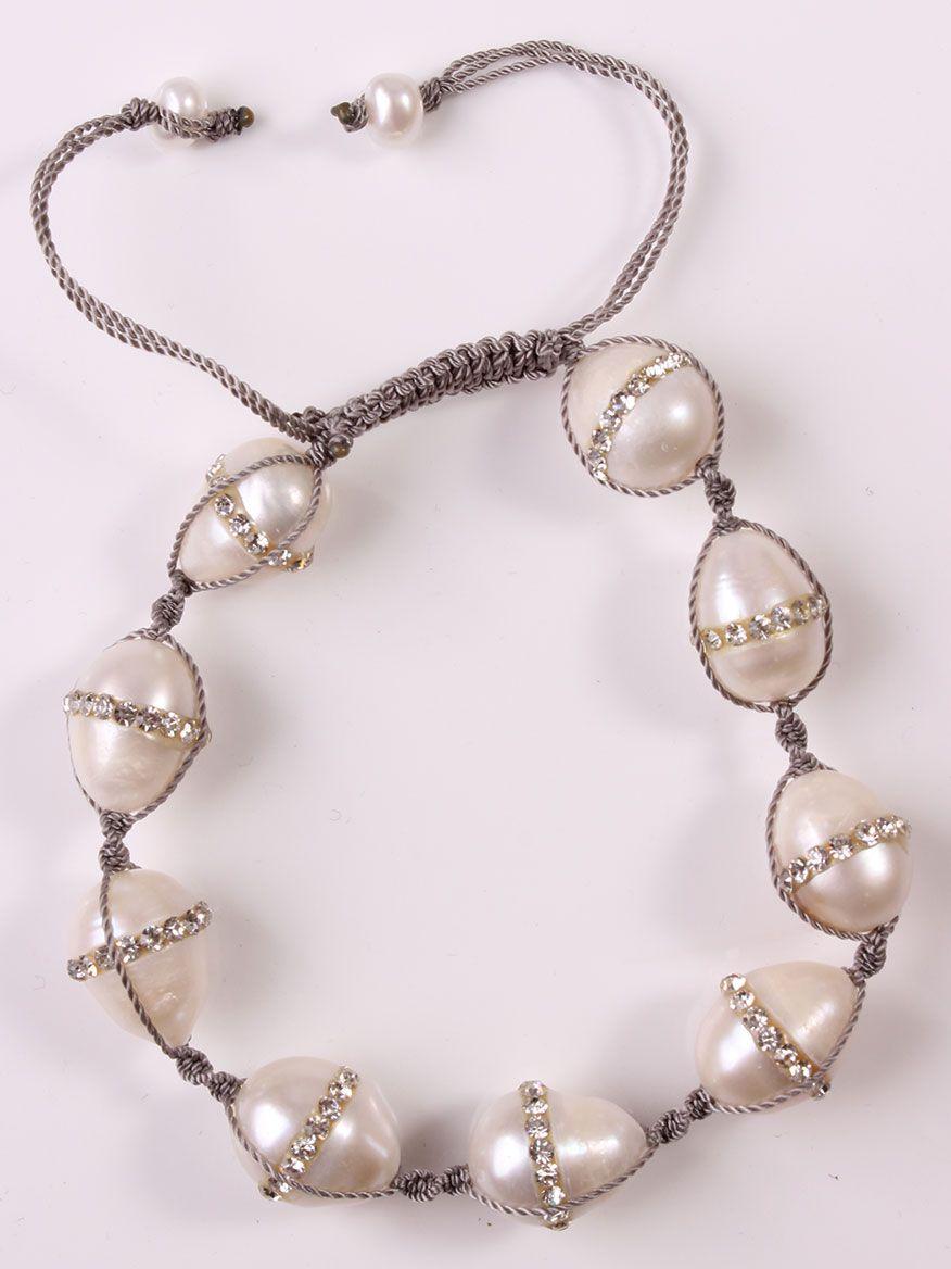 Margo Morrison Baroque Pearl Bracelet w/ Diamond Clasp YiNvd8Y