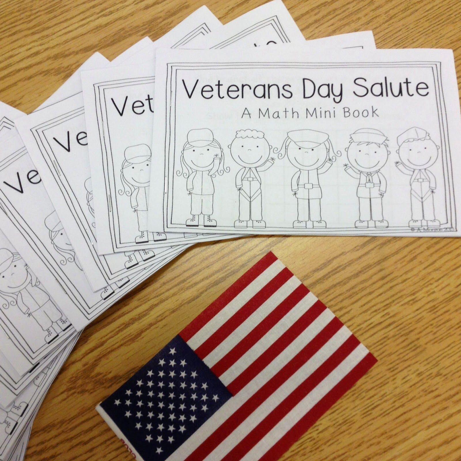 Free Veterans Day Math Mini Book Word Problems