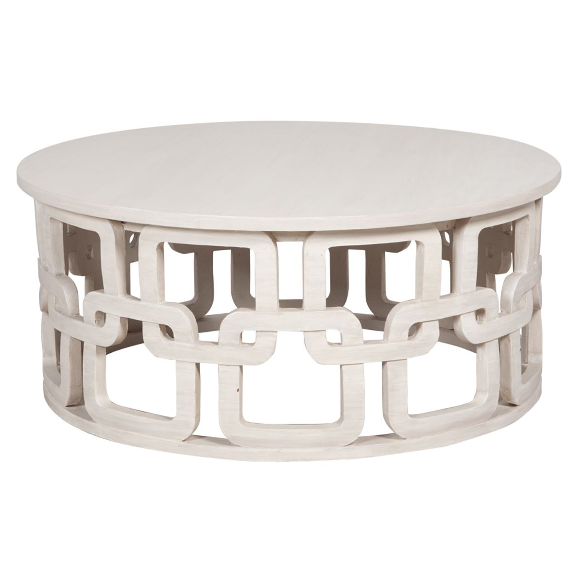 White Washed Round Coastal Coffee Table Client KR Pinterest