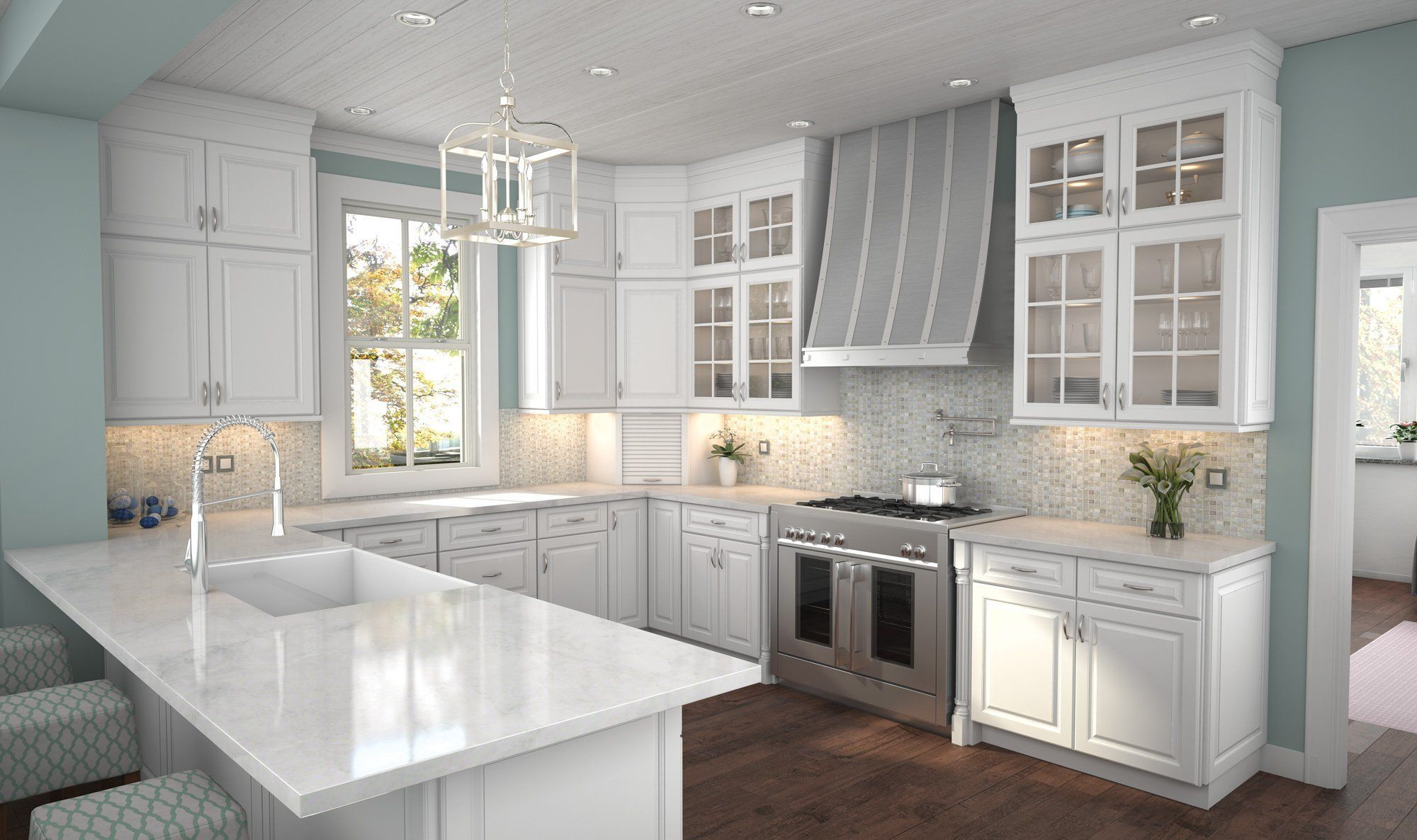 Newport Latte Kitchen Cabinetry Features Traditional Style Raised Front Panels Strong Lines And A Clean Crisp Wh Elegant Kitchens Kitchen Cabinets Cabinetry