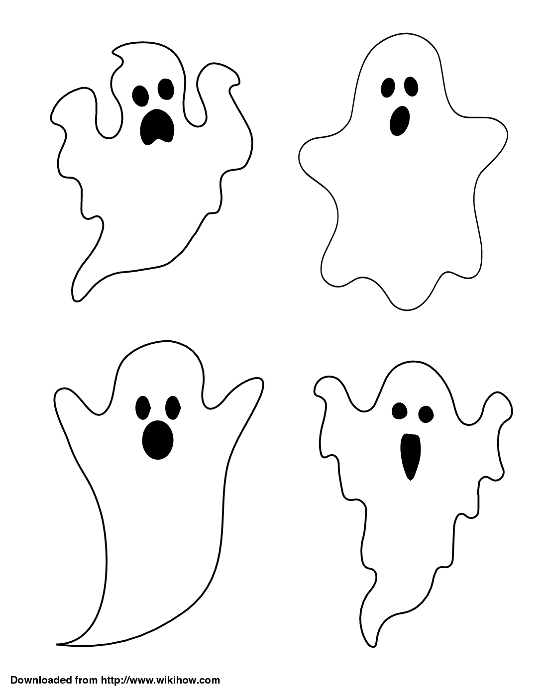 3 Ways To Draw A Ghost Wikihow Bricolage Halloween Halloween Templates Halloween Drawings