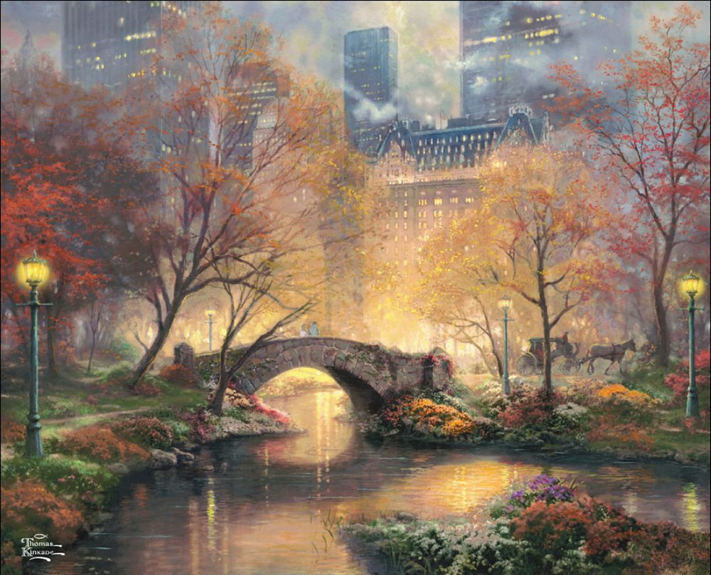 Central Park in the Fall by Thomas Kinkade | Art - General - 1 ...