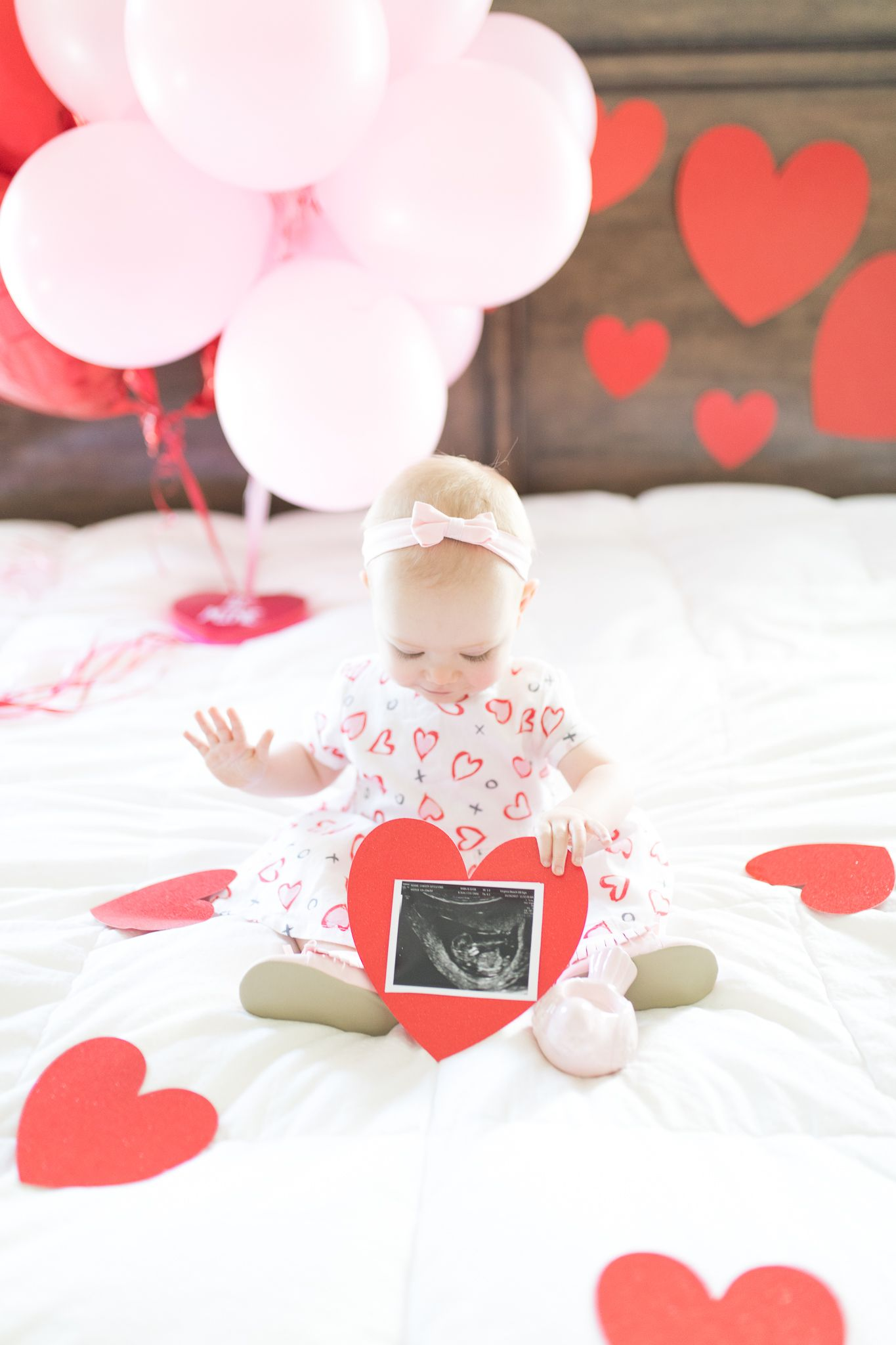 """""""Roses are red, Forget about blue, Because come this August, Cammy's BABY SISTER is due!"""" Valentine's Day pregnancy announcement! It's a girl!"""