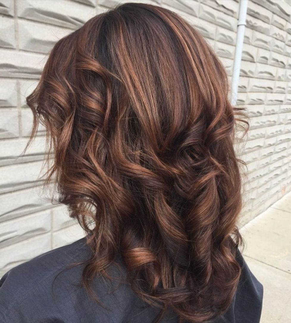 60 Hairstyles Featuring Dark Brown Hair With Highlights Cheveux