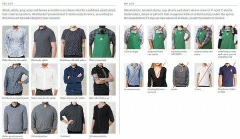 pinsydney decker on starbucks dress code  starbucks
