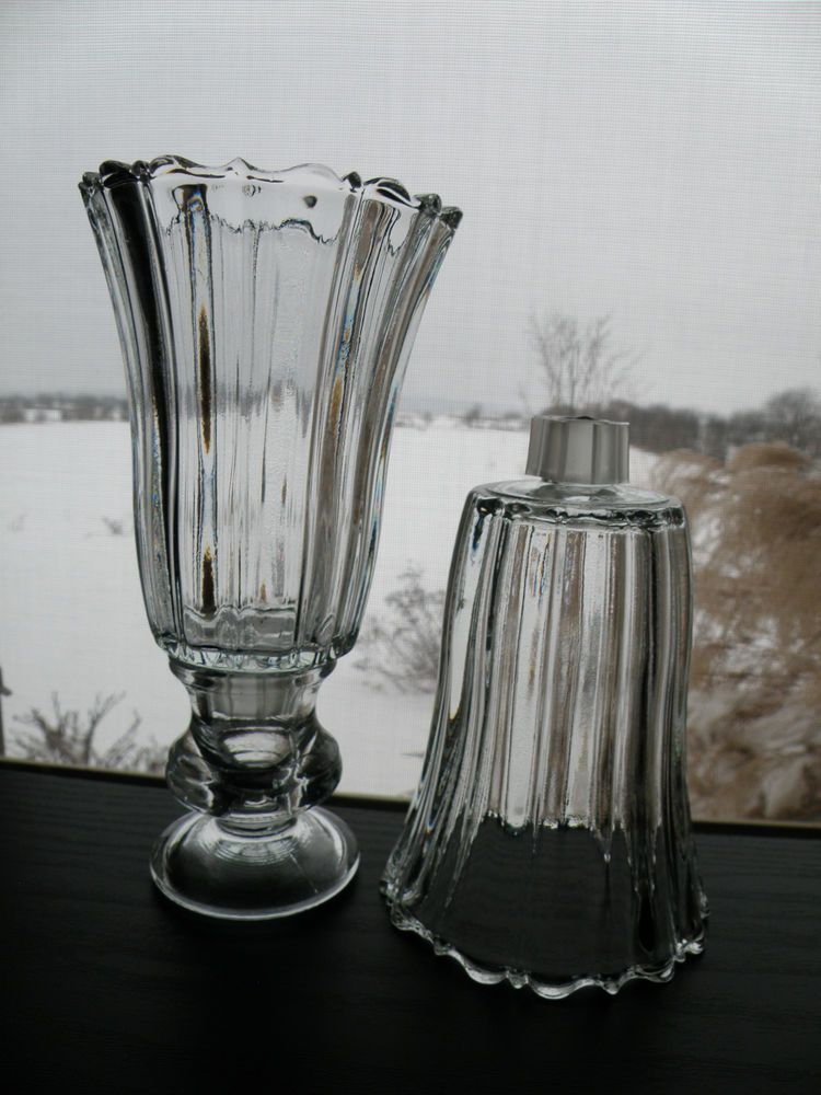 2 Home Interiors Homco Royal Clear Glass Votive Candle Holders Sconce Cups  I HAVE THE 2