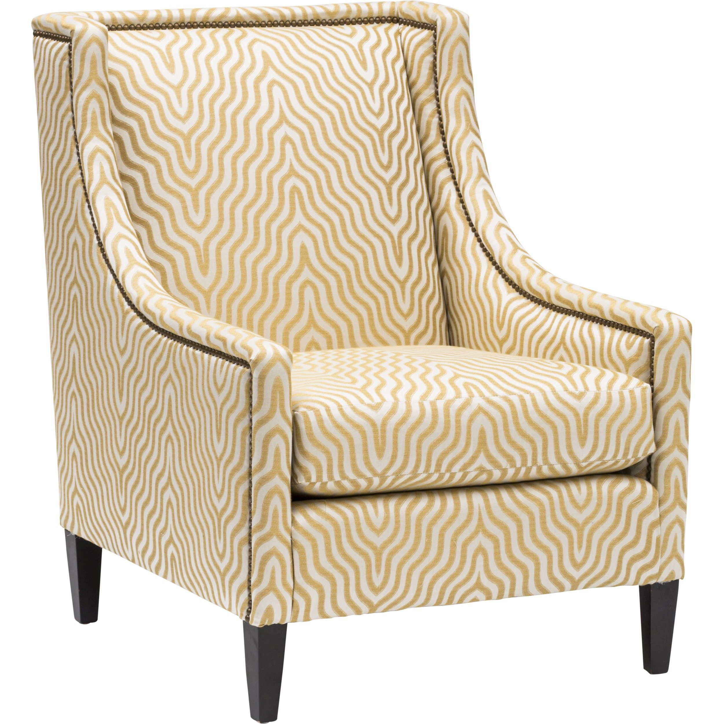 Bernhardt Mindy Chair, Yellow Stripe