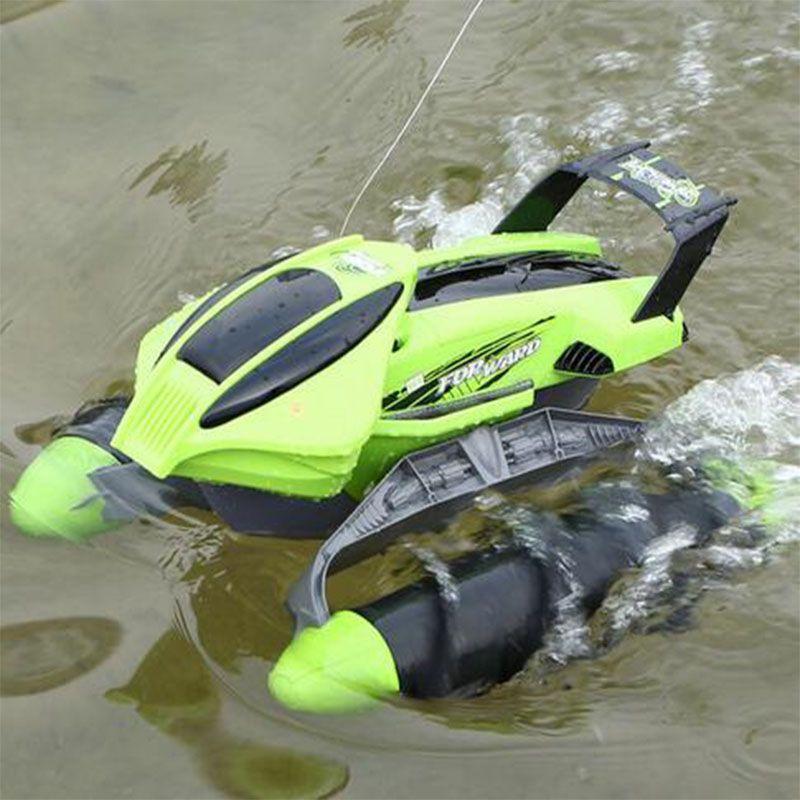Electric RC Car toy-thread push Beach amphibious remote control boat remote control kids car toy ...