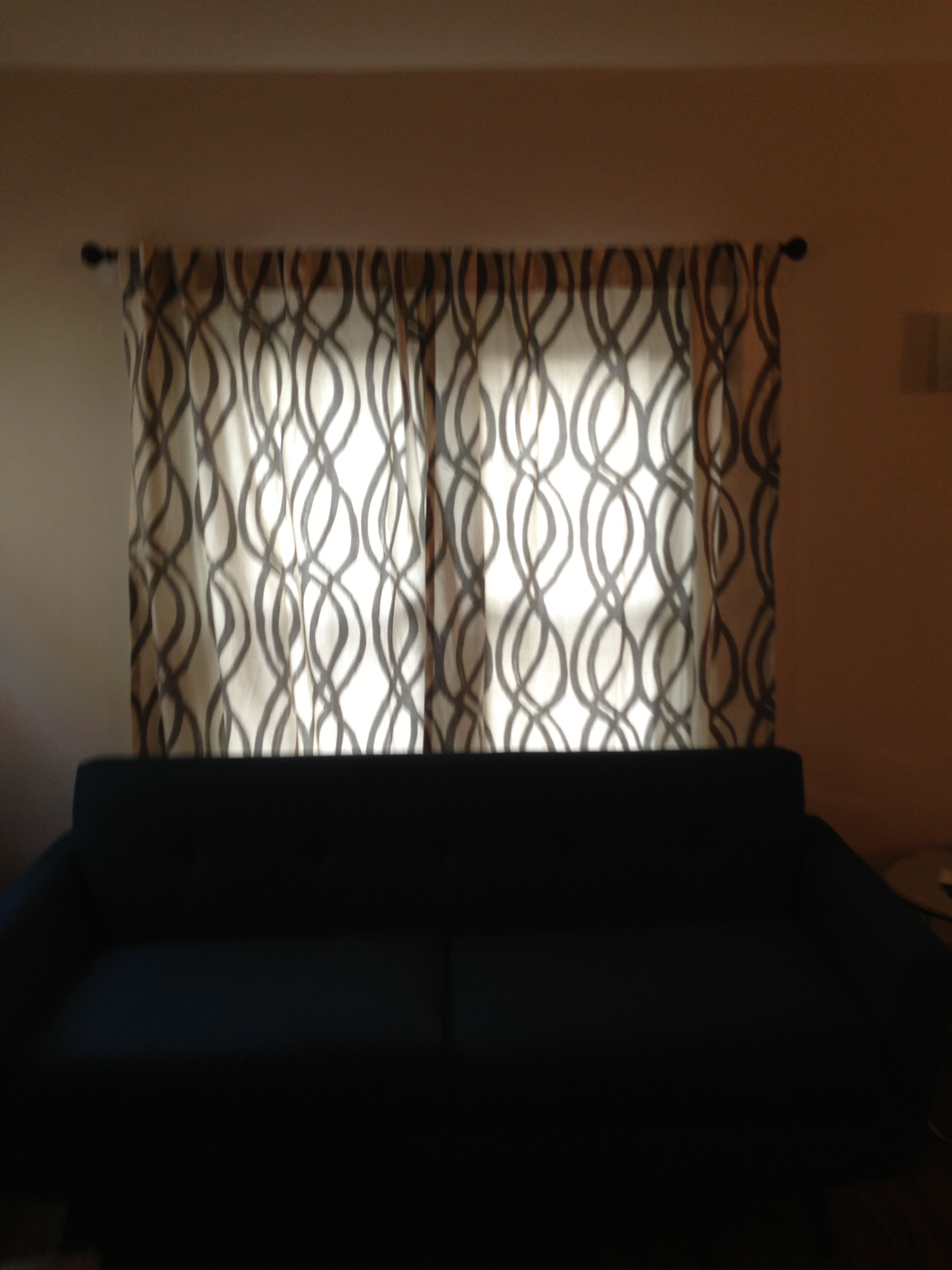 Drapes finally up but theyure not wide enough something i hadnut