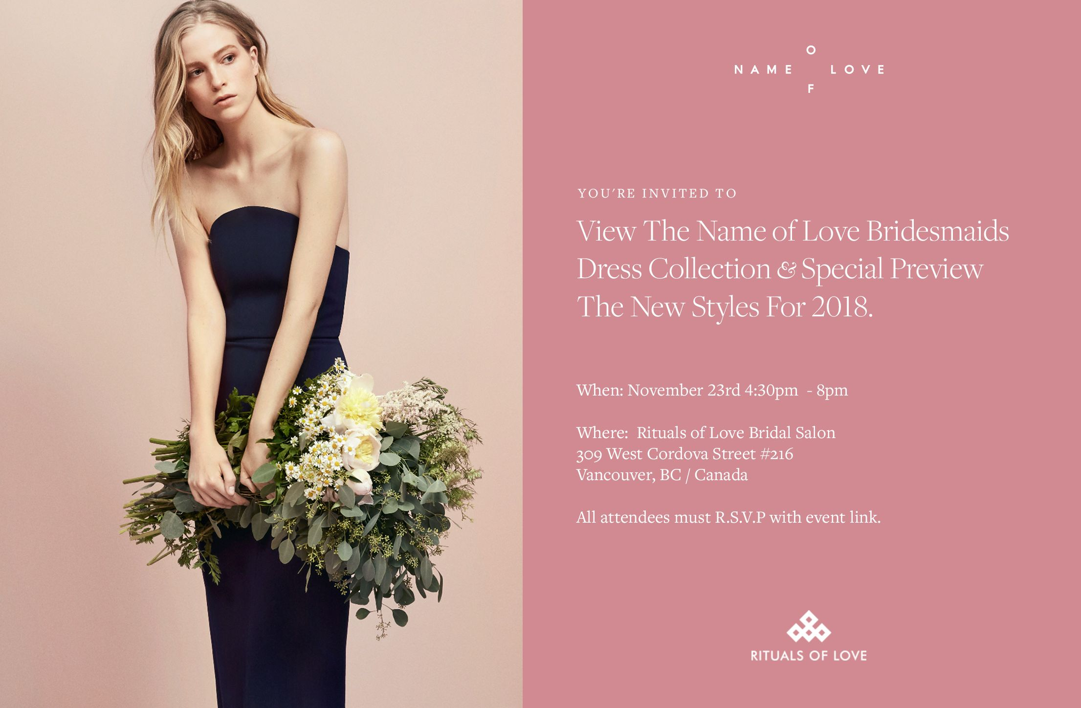 Name of love trunk show bridal pinterest