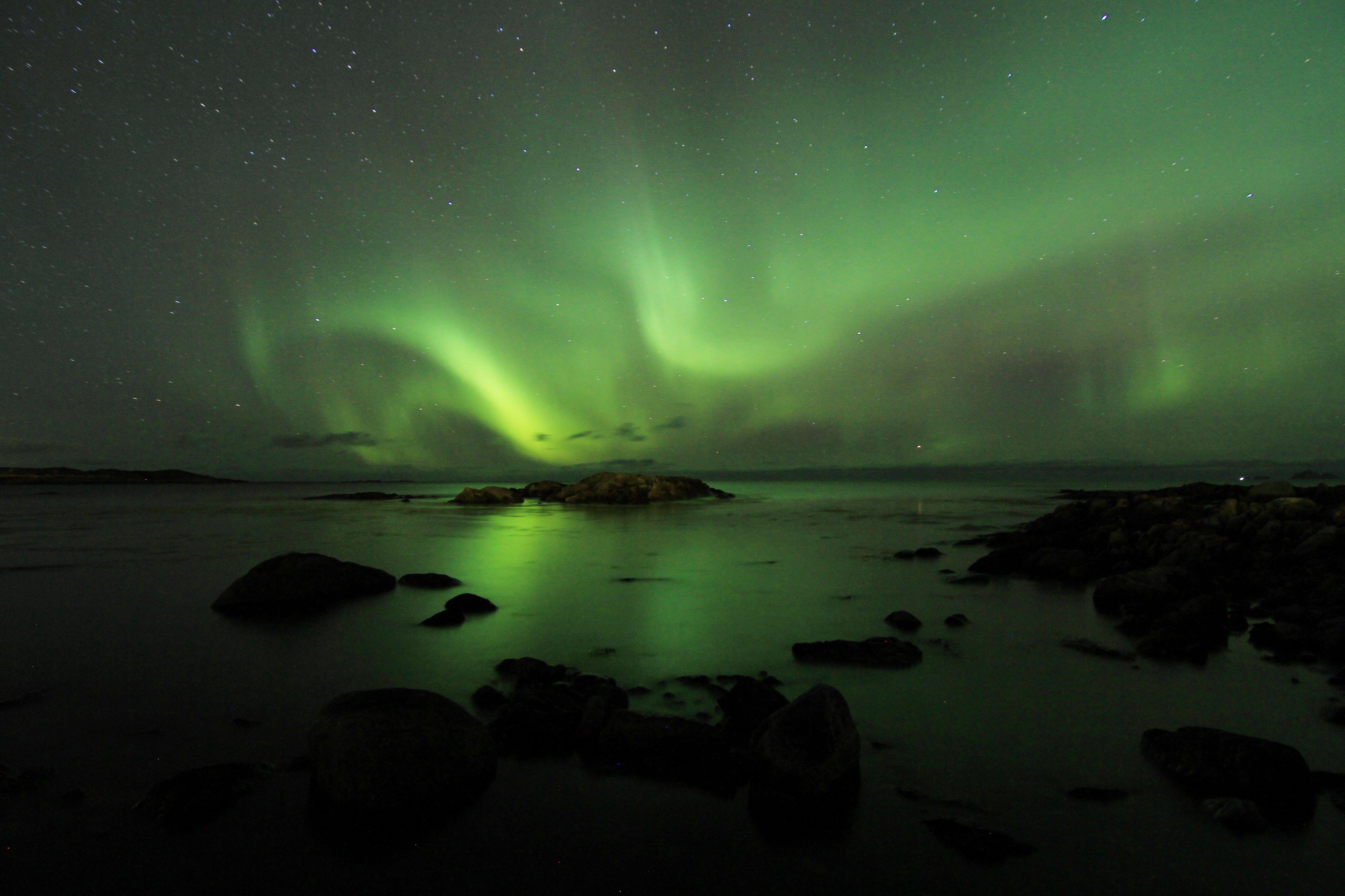 Auroras Boreales desde Noruega.-
