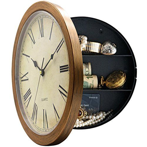 Magho Plastic Wall Clock With Secret Compartment As Hidde Https