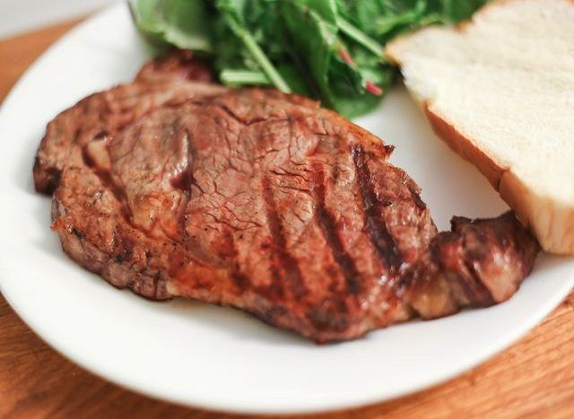 The high fat content of a rib-eye makes it one of the juiciest and tastiest cuts of meat.