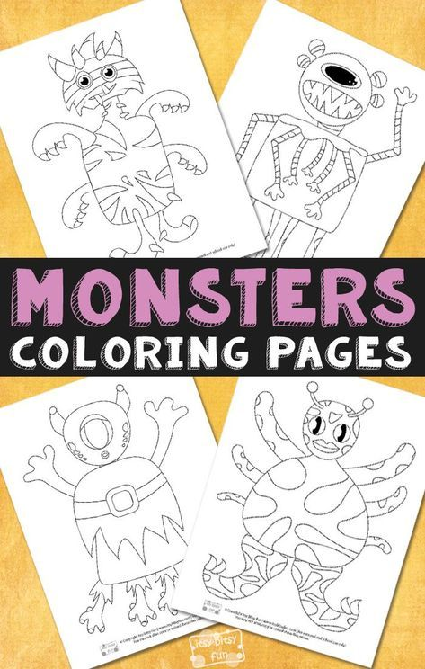 monsters halloween coloring pages for kids  malvorlagen