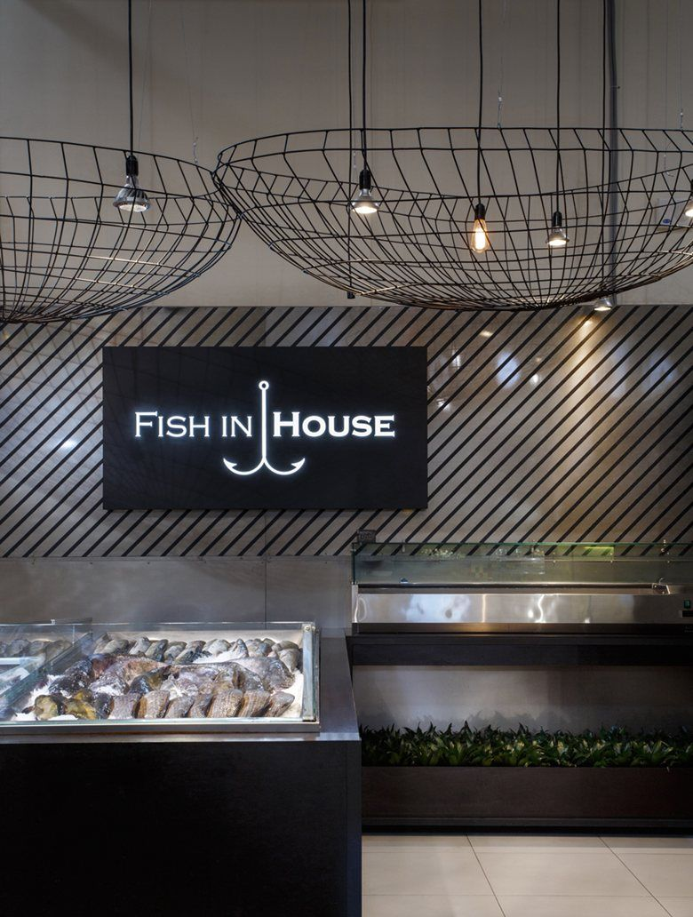 Fish In House, Dnepropetrovsk, 2016   Nottdesign · Store InteriorsRestaurant  InteriorsRestaurant DesignRestaurant ...