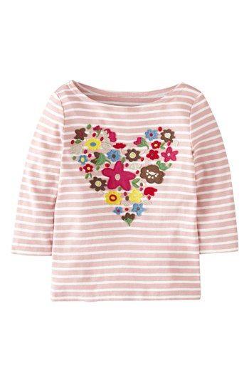 Mini Boden 'Big Bloom' Appliqué Tee (Toddler Girls, Little Girls & Big Girls) available at #Nordstrom