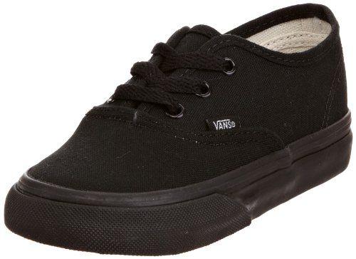 children s black vans shoes