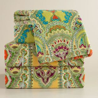 Spring Venice Bath Towel Collection Towels Pinterest - Orange patterned towels for small bathroom ideas