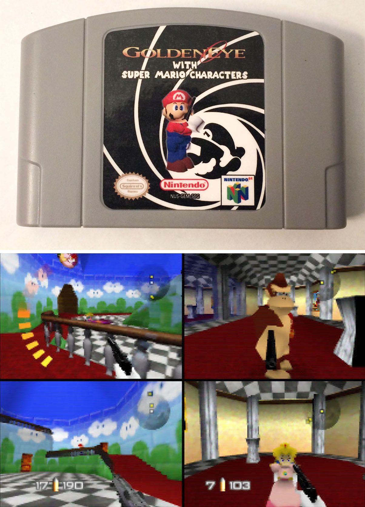Super Mario 64 GoldenEye Hack | crossovers | Super mario, Videogames