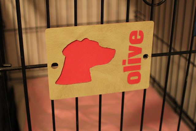 Dog Silhouettes - Name Tags for Crates  (Made with Silhouette SD Cutter)