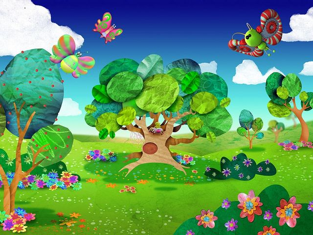 Jardin con flores dibujo cerca amb google anna 15 16 - Cercas para jardin ...