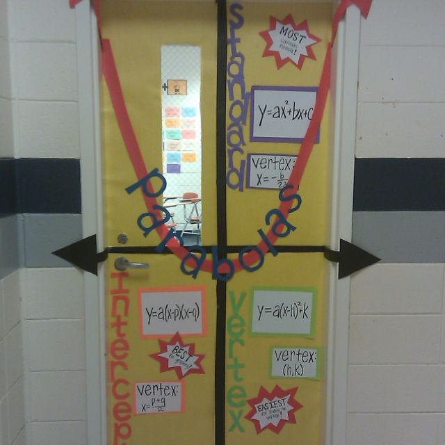 Classroom Design Math ~ July challenge day door decoration and poster