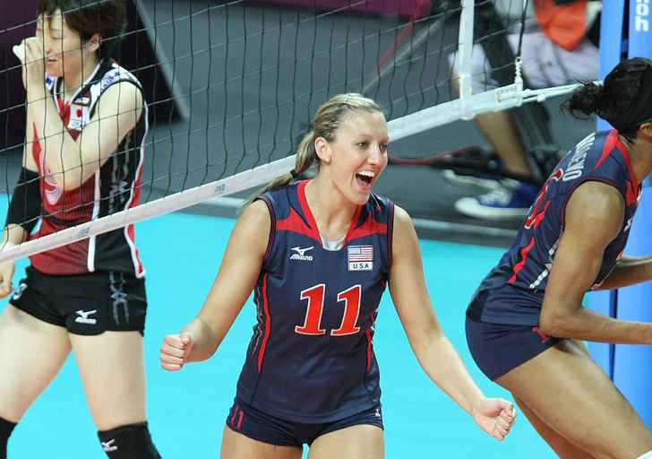 Jordan Larson Former Nebraska Husker And Currently An Outside Hitter For The Usa Olympic Usa Volleyball Famous Volleyball Players Olympic Volleyball Players