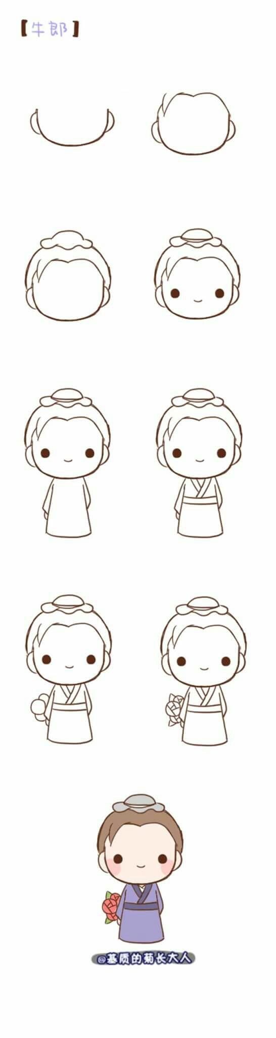 Chibi Japanese Villager Easy Drawings Chibi Drawings Kawaii Drawings