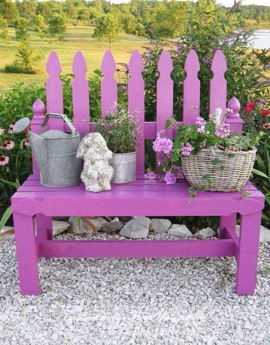 Banca para fiesta de Easter Jardines Pinterest Bancas para - jardines con bancas