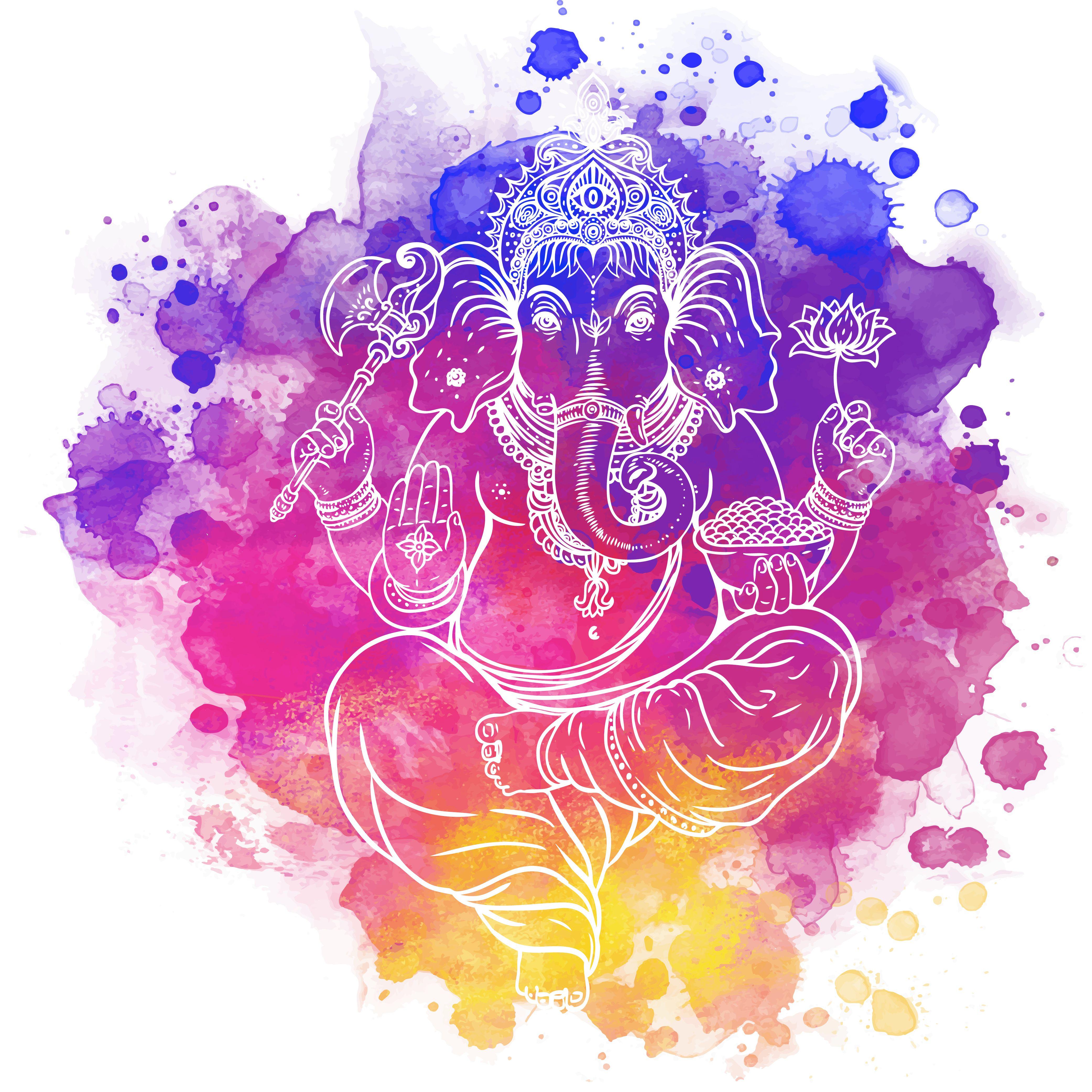 Ganesha es el dios de la sabiduría, el intelecto y las ciencias ...