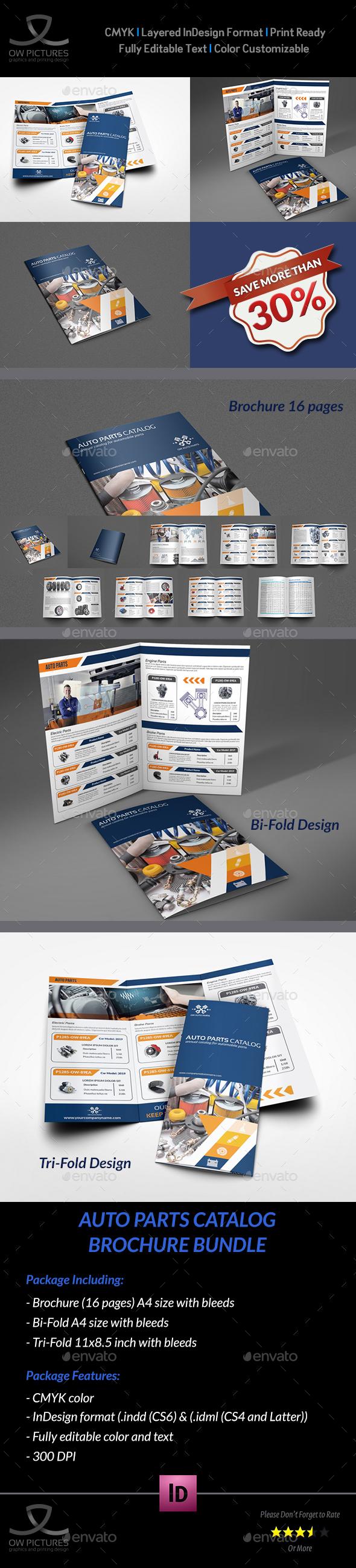 Auto Parts Catalog Brochure Bundle Template Vol.2 | Pinterest