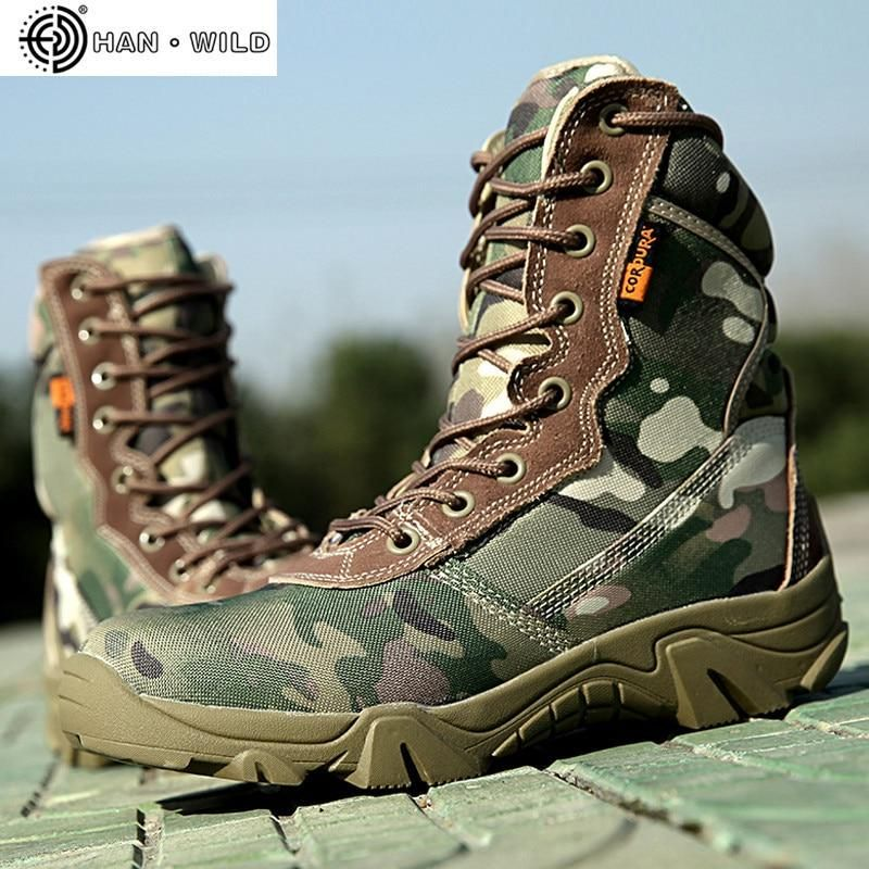 Men/'s High Top Hiking Ankle Boots Outdoor High Top Desert Shoes Lace up Booties
