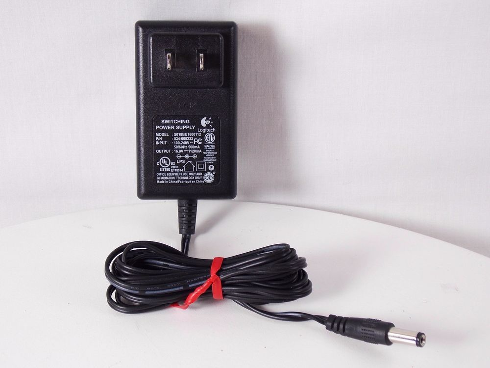 Genuine Logitech S018BU1600112 Switching Power Supply AC