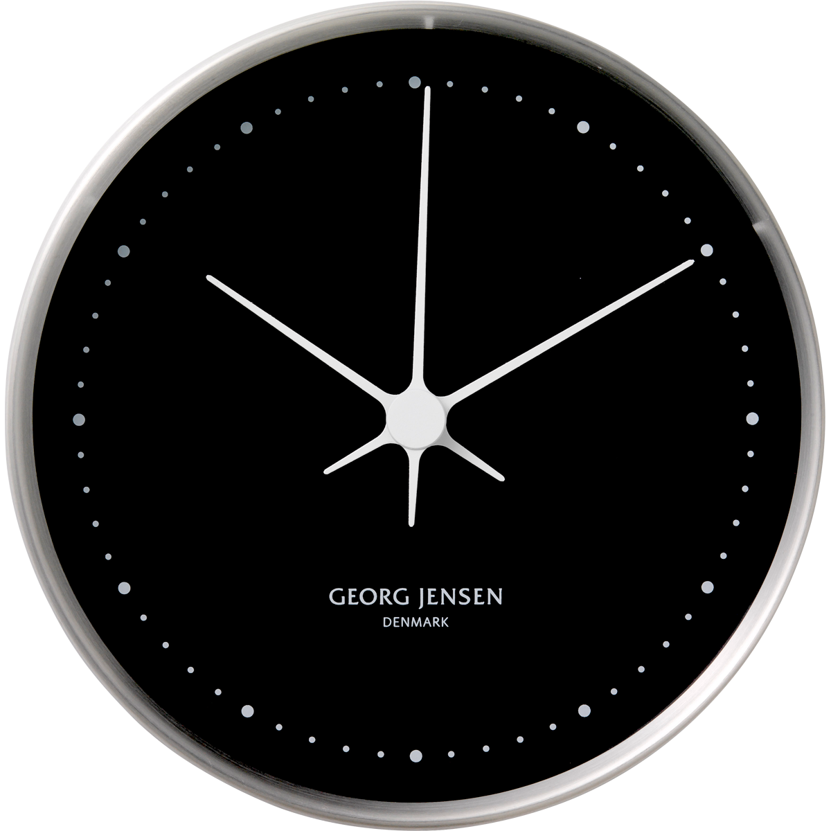 Koppel 10 cm wall clock stainless steel with black dial koppel 10 cm wall clock stainless steel with black dial amipublicfo Images