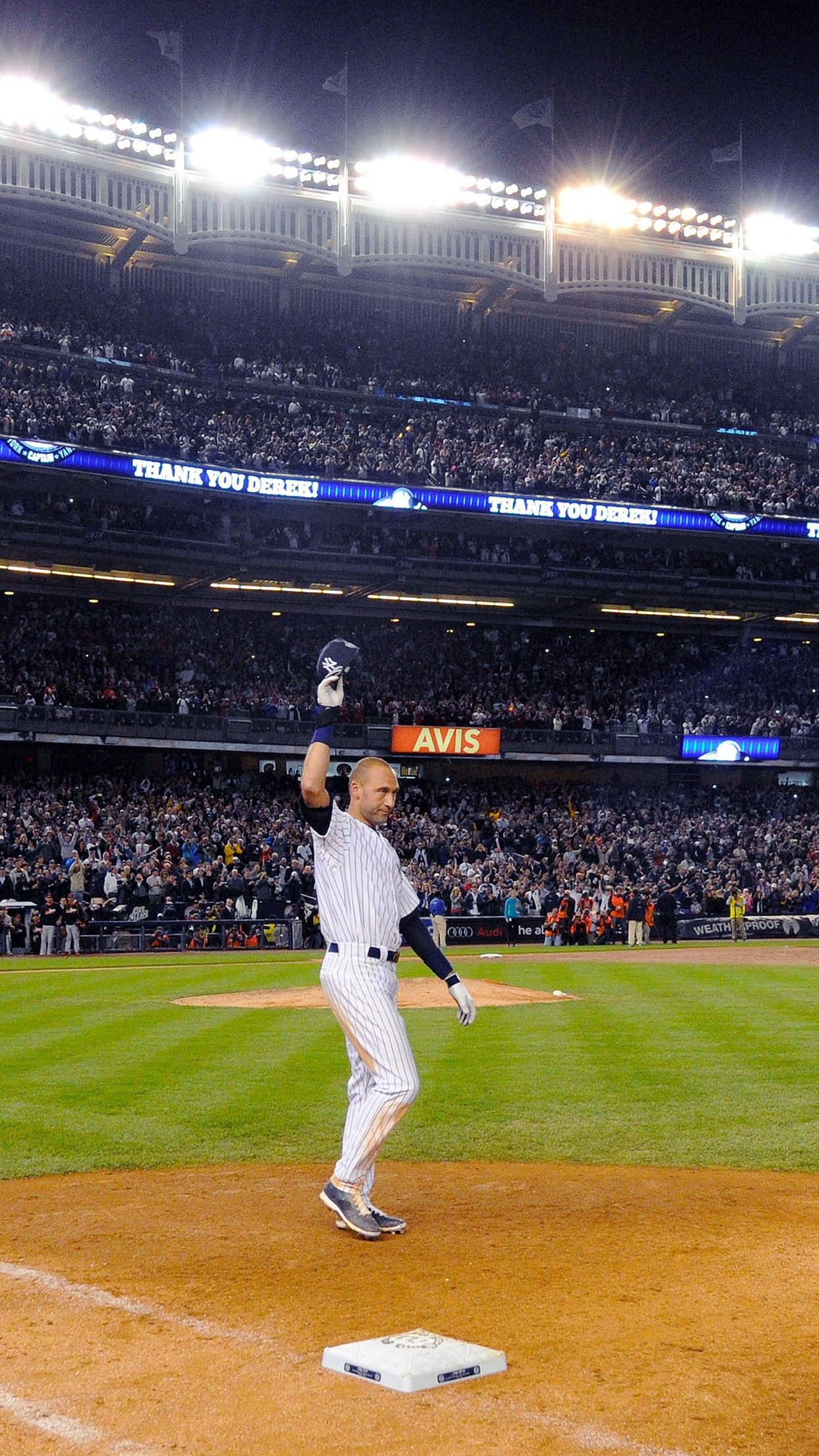 Derek Jeter Walk Off Single New York Yankees Smartphone Wallpaper And Lockscreen Hd