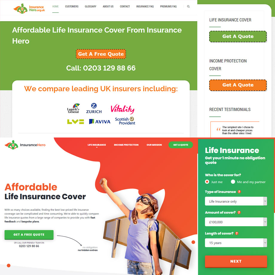 Insurance Hero Bronco Our Ideas In 2020 Affordable Life Insurance Income Protection Case Study