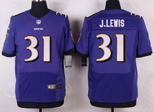 Baltimore Ravens #31 Jamal Lewis Purple Retired Player NFL Nike Elite Men's  Jersey