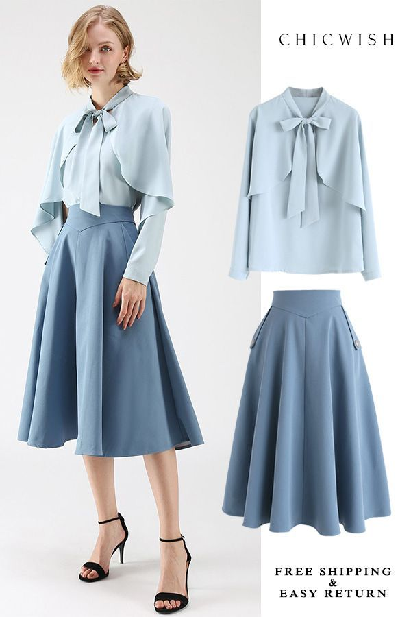 Cape Sleeves Top is part of Fashion dresses - Free Shipping & Easy Return  Up to 30% Off  Crush on Casual Bowknot Cape Sleeves Top