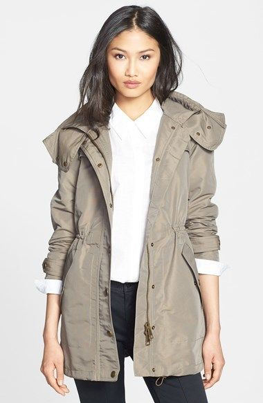 Burberry Brit 'Cobridge' Hooded Anorak with Detachable Liner